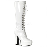 Bottes Blanches Vernies Gothiques ELECTRA-2020