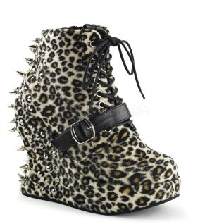 Bottines gothiques imitation léopard