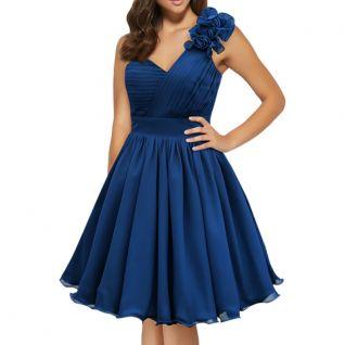 Robe de soirée coloris bleu vintage