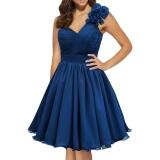 Robe de soirée coloris bleu