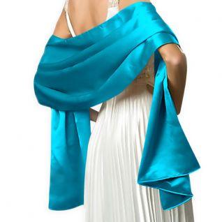 Etole longue habillée en satin turquoise