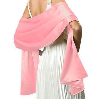 Châle habillé en satin rose pour mariage