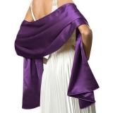 Etole en satin violet
