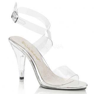 Nu-pieds transparents brides croisées caress-412