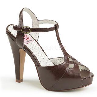 Sandales Pin Up coloris marron bettie-23