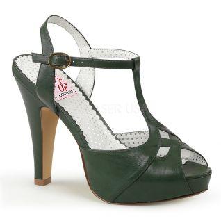 Sandales Pin Up coloris vert bouteille bettie-23