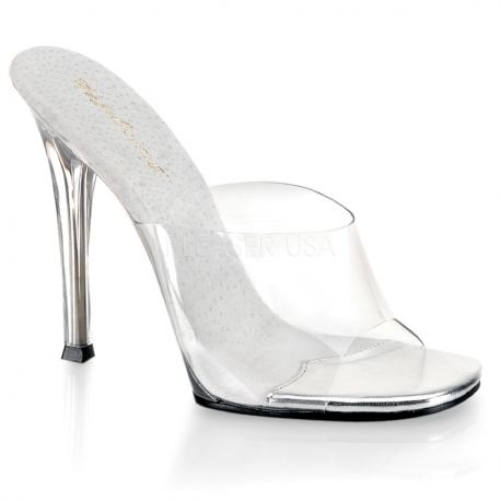 Chaussures transparentes mules haut talon gala-01