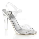 Sandales transparentes semelle argentée
