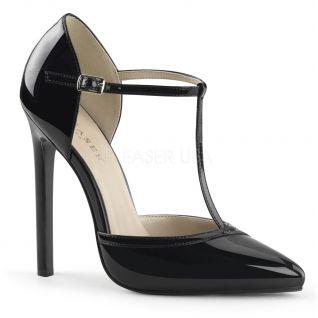 Escarpin d'Orsay coloris noir vernis talon aiguille