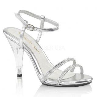 Sandales habillées strass argents caress-416