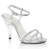 Sandales habillées strass argents