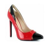 Escarpins rouges et noirs vernis