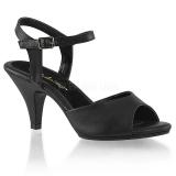 Sandales noires petit talon