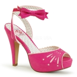 Sandales Pin Up coloris rose