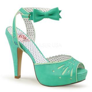 Sandales Pin Up coloris pistache bettie-01