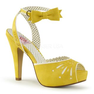 Sandales Pin Up coloris jaune bettie-01