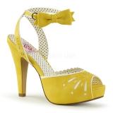 Sandales Pin Up coloris jaune