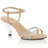 Sandales à strass petit talon