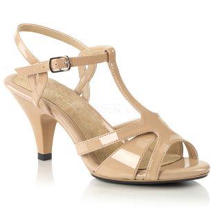 Nu-pieds à brides coloris caramel belle-322