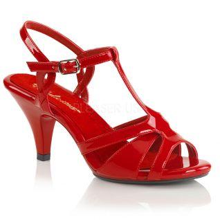Nu-pieds rouges petit talon belle-322
