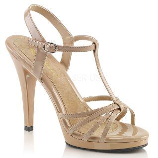 Nu-pieds à brides coloris caramel flair-420