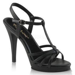 Sandales à brides coloris noir flair-420