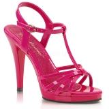 Sandales à brides coloris fushia