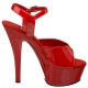 chaussure sexy rouge vernie sandale