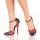 Escarpin DOMINA-412 Pleaser noir et rouge