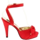 Sandales Bride Cheville en Satin Rouge Talon Fin BETTIE-04