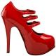 Escarpins à Brides Rouges Vernis Plateforme Haute TEEZE-05