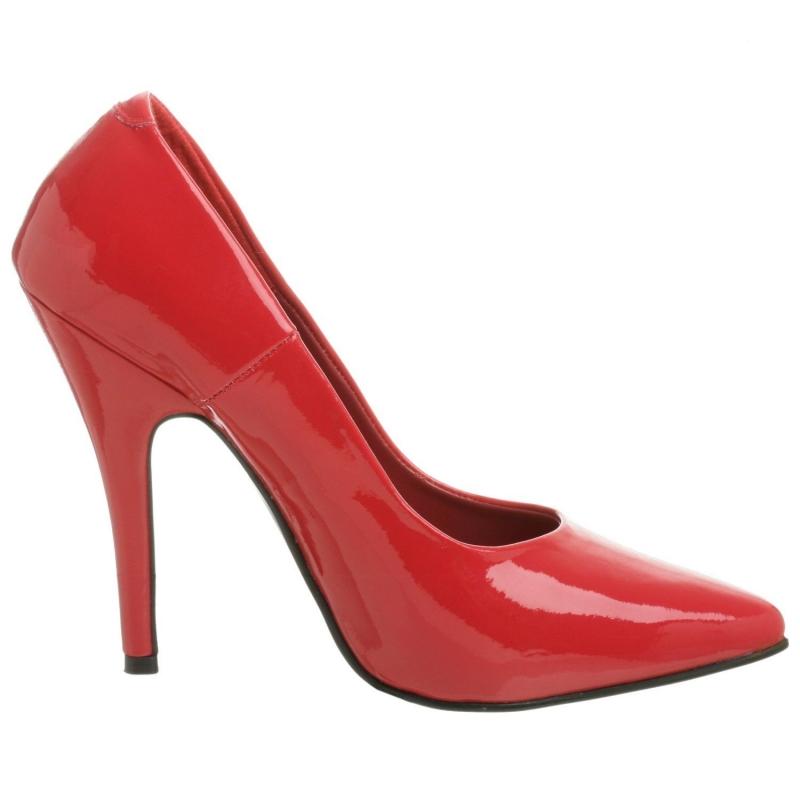 chaussure travesti escarpin rouge vernis talon fin. Black Bedroom Furniture Sets. Home Design Ideas
