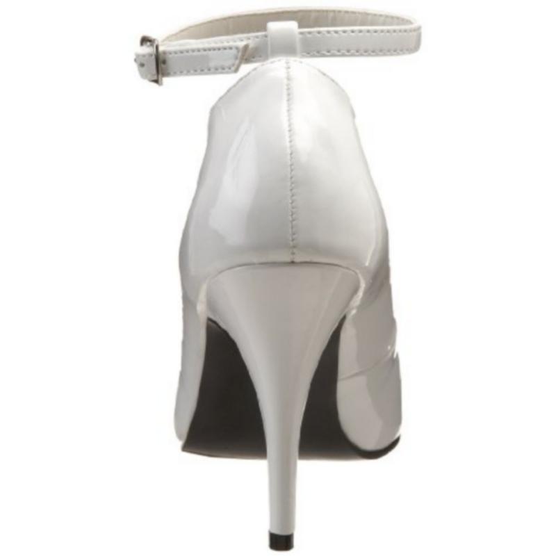 9acad8b73997 Escarpins classiques blancs vernis · Escarpins Classiques à Bride Blanc  Vernis Talon Haut Vanity-431 ...