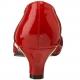 Escarpins Bas Talon Large Rouges Vernis FAB-420W