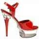 chaussure striptease rouge vernie