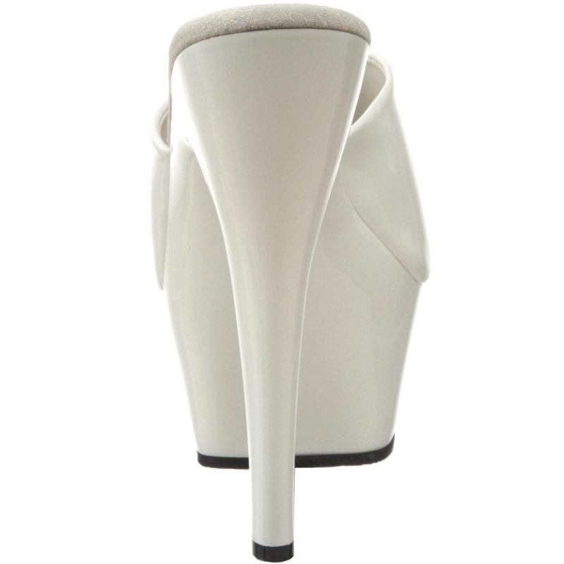 ... chaussure infirmière blanche vernie  chaussure sexy mule blanche talon  haut ... f5572dc213c3