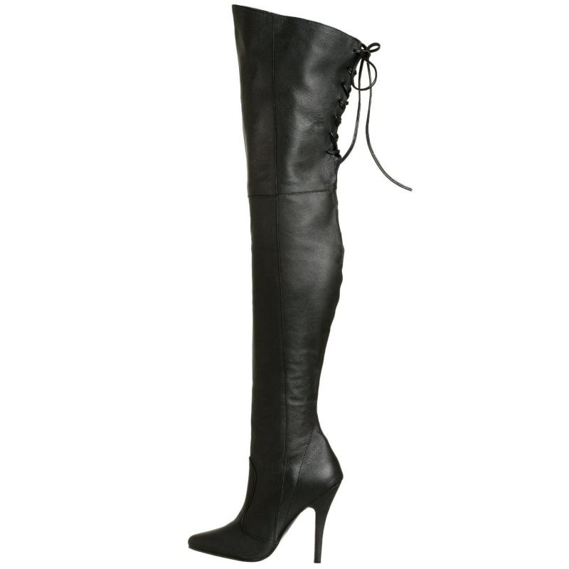 da1f5309e19 Quelle tenue avec des cuissardes cuir noir à talon