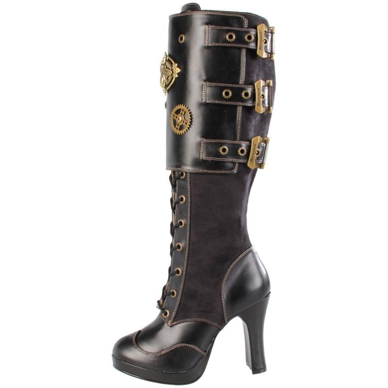 Avec quoi porter des bottes Steampunk noire talon