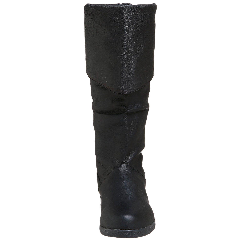 cuir modes noir hommes Biker Botte chaussures qj354RAL