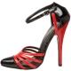 Escarpin noir et rouge DOMINA-412