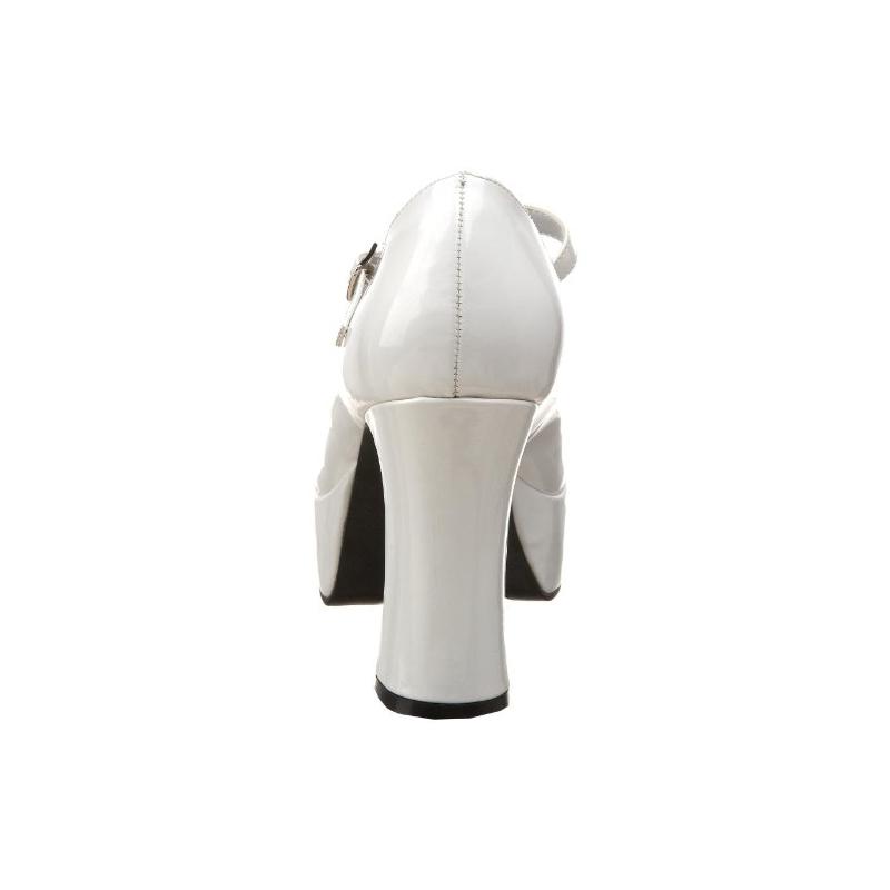 0206c860a756 ... Escarpins plateformes blancs vernis spécial pied large MARYJANE-50X ...