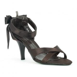 Sandales satin marron