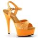 Sandale UV orange à bride talon haut plateforme DELIGHT-609UVG