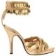 Sandale or à bride large Talon Aiguille GYPSY-03