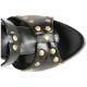Spartiates cloutées noires talon aiguille GLADIATOR-208
