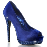 Escarpins Peep Toe coloris bleu roi