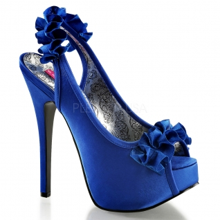 Sandales en satin coloris bleu roi talon haut plateforme teeze-56