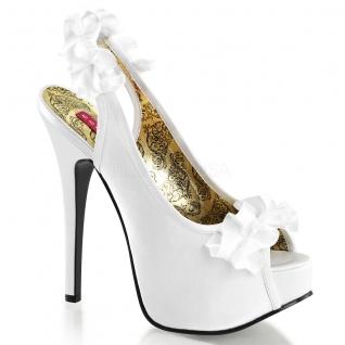 Sandales en satin coloris blanc talon haut plateforme teeze-56