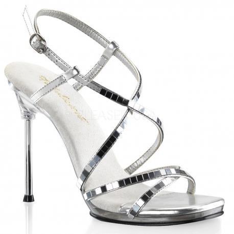 Chaussures sandales Disco à fines brides croisées talon aiguille chic-09
