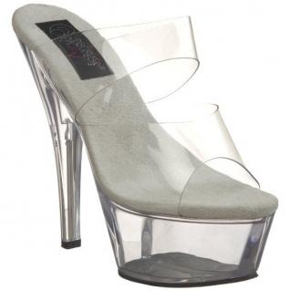 Chaussures mules transparentes à talon haut plateforme kiss-202